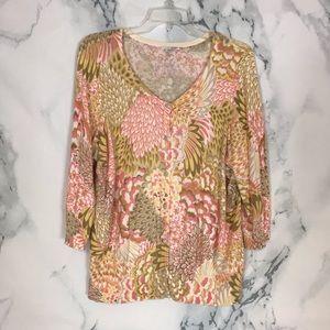 Halogen Floral Cardigan Plus Size 1X